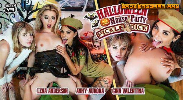 WankzVR: Anny Aurora, Gina Valentina, Lena Anderson - Halloween House Party: Pickle-Dick (VR, Facesitting, SideBySide, Oculus) (Oculus Rift, HTC Vive, Windows Mixed Reality, Pimax) 2300p