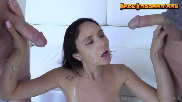 OnlyFans: Ariana Marie - Golden Shower and Double Facial Video (Blowjob, Gonzo, Facial, Pissing) 1080p
