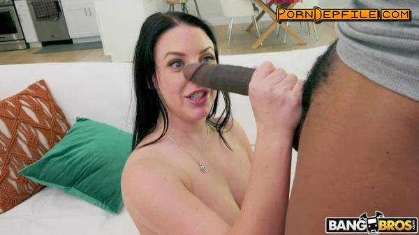 BigTitsRoundAsses, BangBros: Angela White - Gets Her Asshole Stretched (Brunette, Big Tits, Interracial, Anal) 1080p