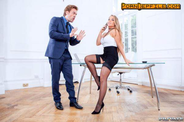 PrivateStars, Private: Alessandra Jane - Blonde Secretary fucks the boss on her first day (Cumshot, Blonde, Russian, Big Tits) 2160p
