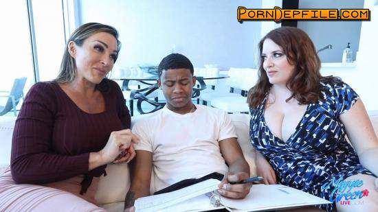 MaggieGreenLive: Aubrey Black, Maggie Green - Cougar Tutors Have Their Way With Lil D (Big Tits, Milf, Group Sex, Interracial) 1080p