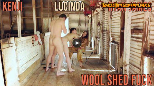 GirlsOutWest: Kenji, Lucinda, Ryan James - Wool Shed Fuck (HD Porn, Hardcore, Oral) 720p