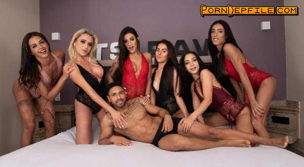TSRAW: Yasmin de Castro, Pietra Radi, Mariana Lins, Hanna Rios, Bruna Dior, Alice Marques - Raw Gangbang By 6 Tgirl All Stars (Transsexual, Pissing, Facesitting, Shemale) 720p