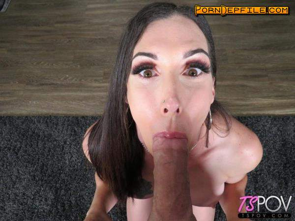 TsPov: Melanie Brooks - Making Love To A Big Dick With Her Mouth (Blowjob, POV, Transsexual, Shemale) 720p