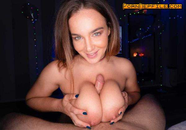 MrLuckyPOV: Natasha Nice - Large Natural Knockers Drain All The Cum (Cumshot, Brunette, POV, Big Tits) 480p