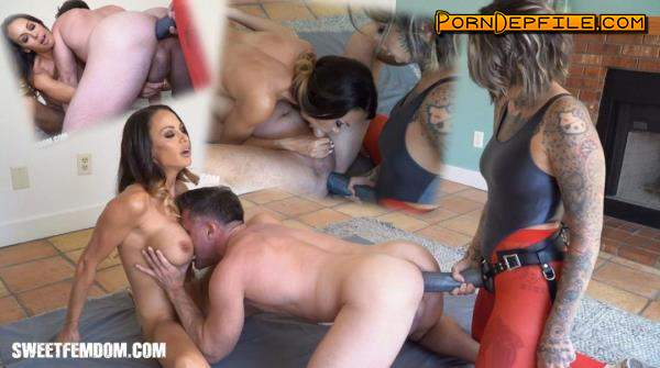 SweetFemdom: Leigh Raven, McKenzie Lee, Lance Hart - Giant Strap On and a New Rug (Fetish, Facesitting, Femdom, Strapon) 480p