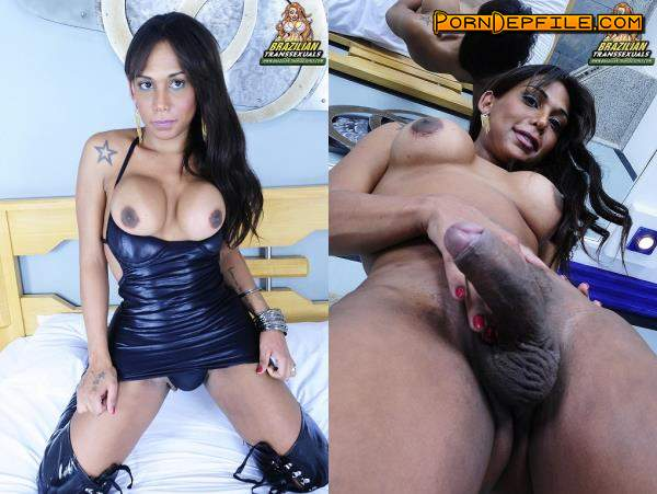 Brazilian-Transsexuals: Aline Stefanely - Gorgeous Aline Stefanely Jacks Off! Remastered (Dildo, Solo, Transsexual, Shemale) 720p