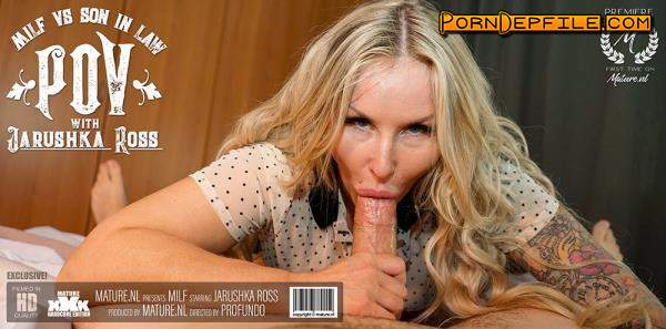 Mature.nl: Jarushka Ross (36) - Hot MILF sucking and fucking her son in law in POV style (Blowjob, Facial, Milf, Mature) 1080p