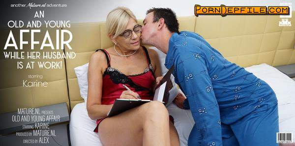 Mature.nl: Karine C (53) - Mature Karine loves young men in her bed while her husbands at work (Blowjob, Facial, Teen, Mature) 1080p