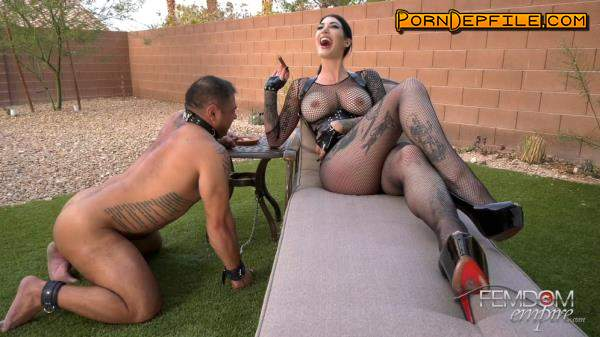 FemdomEmpire: Goddess Damazonia - Amazon's Ash Hole (Big Tits, Fetish, Smoking, Femdom) 1080p