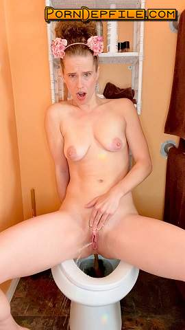 ScatShop: VibeWithMolly - I cum while pooping on the toilet (Smearing, Pissing, Big shit, Scat) 1920p