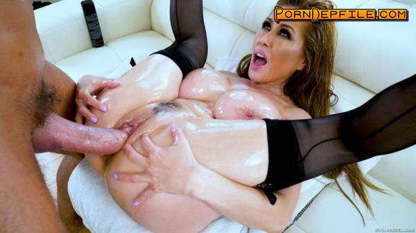 EvilAngel: Kianna Dior - Huge Cock Suck n' Fuck (Deep Throat, Blonde, Asian, Big Tits) 400p