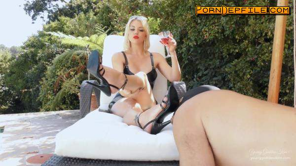 YoungGoddessKim, Clips4Sale: Young Goddess Kim - Day In The Life As A Garden Ashtray (BDSM, Smoking, Femdom, Humiliation) 1080p