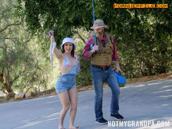 NotMyGrandpa, TeamSkeet: Mia Moore - Stepgrandpa Teaches Me To Fish (Cowgirl, Brunette, Teen, Anal) 360p