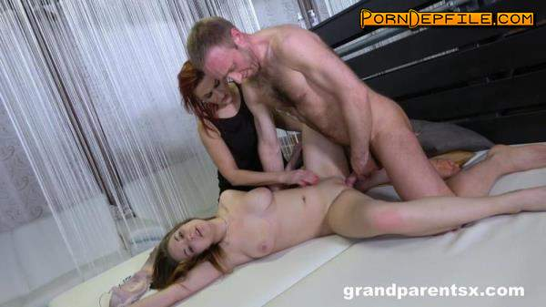 GrandParentsX, passionxxx: Emily Devine, Anastasia T - Old and young sharing cock (Teen, Lesbian, Anal, Threesome) 1080p