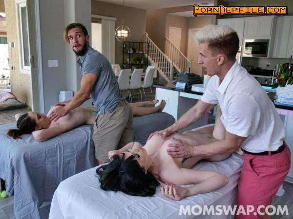 MomSwap, TeamSkeet: April Storm, Nickey Huntsman - Stepmoms's Massage Treat (Doggystyle, Cowgirl, Milf, Mature) 480p